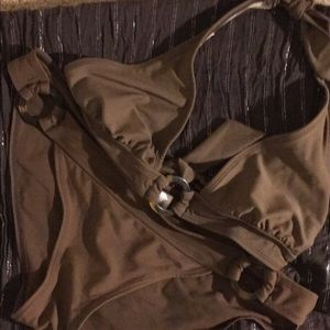 Gap Body brown tortoise shell bikini and sarong